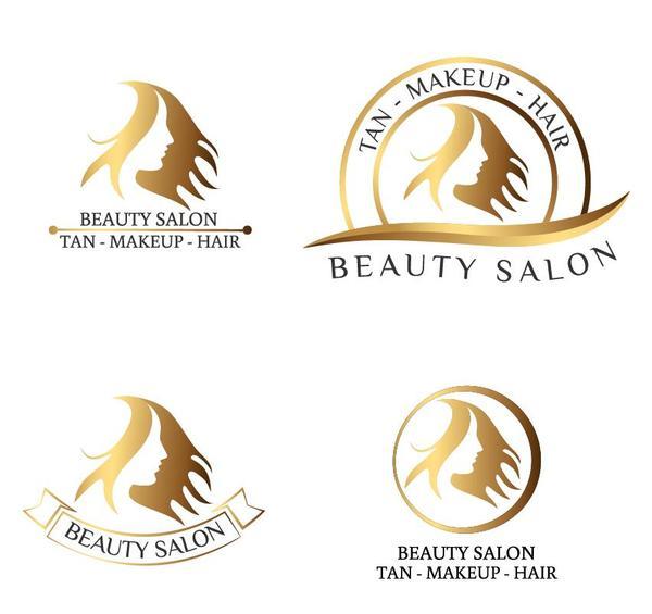 Beauty salon logos design vector - Vector Logo free download