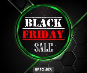 Black background with black friday big sale design vector