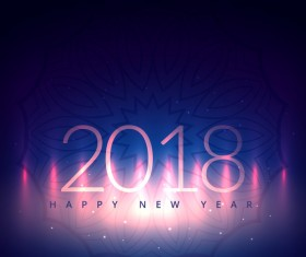 Blue 2018 new year background design vector