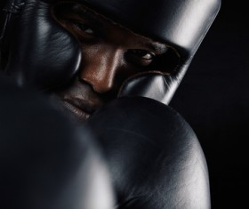 Boxers wearing protective gear Stock Photo 01