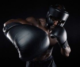 Boxers wearing protective gear Stock Photo 02