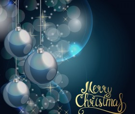 Brilliant christmas background with baubles vector