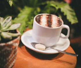 Caramel macchiato coffee Stock Photo