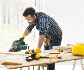 Carpentry are working Stock Photo 01