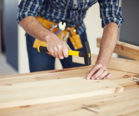 Carpentry are working Stock Photo 02