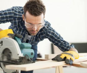 Carpentry are working Stock Photo 03