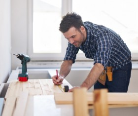 Carpentry are working Stock Photo 04
