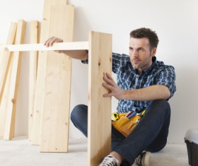 Carpentry are working Stock Photo 06