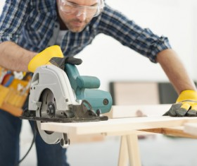 Carpentry are working Stock Photo 07