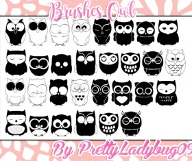 Cartoon Owl Photoshop Brushes