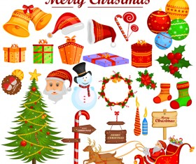 Cartoon christmas baubles illustration vector