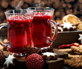 Cherry red wine Stock Photo