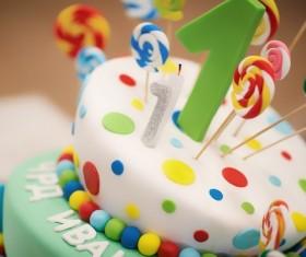 Child birthday cake Stock Photo