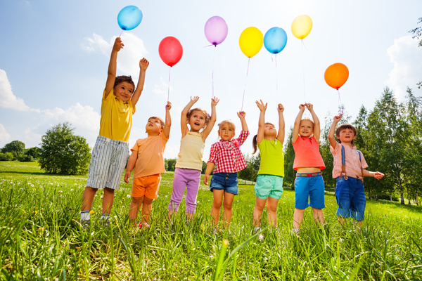 Children holding balloons stock photo kids stock photo free download - Children s day images download ...