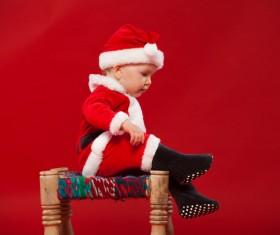 Children wearing Christmas costumes Stock Photo