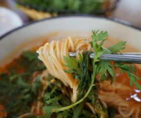 China Lanzhou Lamian Noodles Stock Photo