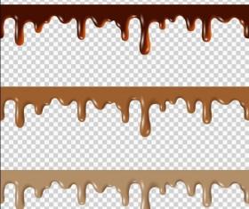 Chotolate drop border vectors illustration 02