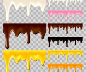 Chotolate drop border vectors illustration 03