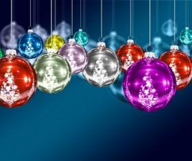 Christmas Eve Ball Decorations Stock Photo