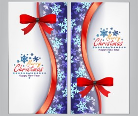 Christmas bows banners design vector 11