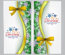 Christmas bows banners design vector 12