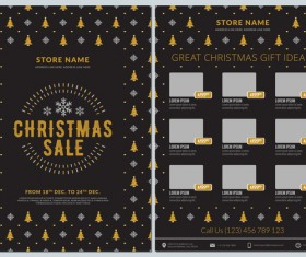 Christmas brochure template with gift card vector 03