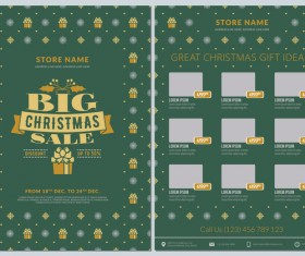 Christmas brochure template with gift card vector 04