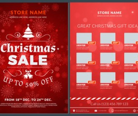 Christmas brochure template with gift card vector 05