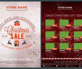 Christmas brochure template with gift card vector 14