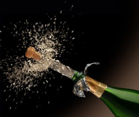 Christmas champagne Stock Photo 04