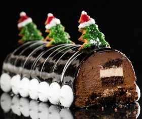 Christmas cookies decorated cupcake Stock Photo