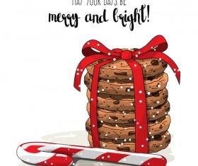 Christmas cookies food design vector 03