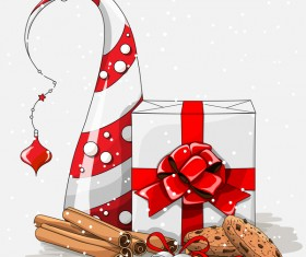 Christmas cookies food design vector 05