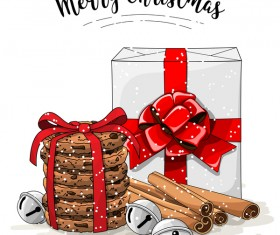 Christmas cookies food design vector 06