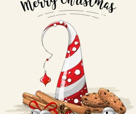 Christmas cookies food design vector 07