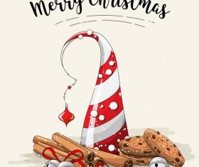 Christmas cookies food design vector 07