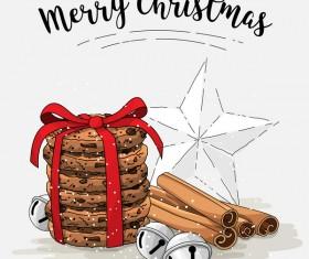 Christmas cookies food design vector 08