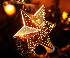 Christmas decorations little stars Stock Photo
