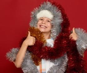 Christmas funny kid Stock Photo