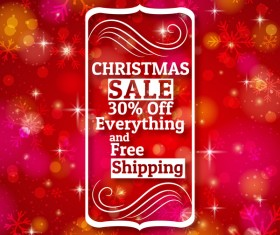 Christmas holiday discount sale red background vector 05