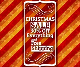 Christmas holiday discount sale red background vector 08