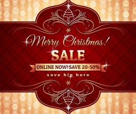 Christmas holiday discount sale red background vector 11