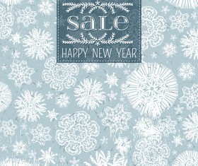 Christmas holiday sale background with snowflake seamless pattern vector 01
