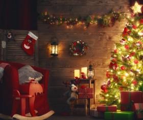 Christmas night lights Stock Photo 01