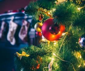 Christmas night lights Stock Photo 02