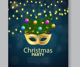 Christmas party flyer and brochure cover vector