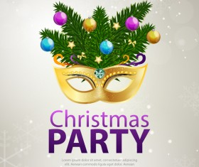 Christmas party flyer template design vector