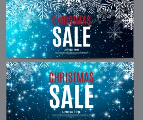 Christmas sale banners template vector 01