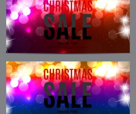 Christmas sale banners template vector 02