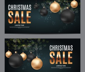 Christmas sale banners template vector 03